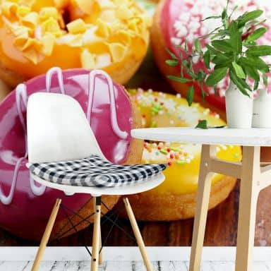 Fototapete Zuckersüße Donuts