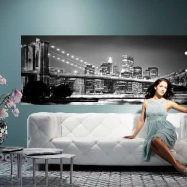 Photo Wallpaper Paper Brooklyn Bridge