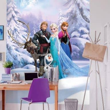 Photo Wallpaper Frozen - Winter forest