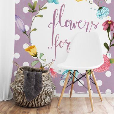 Fototapete Loske - Flowers for you