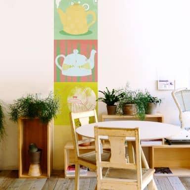 Fototapete Loske - Tea Time 01 - Panorama - 48x260 cm