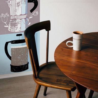 Fototapete Loske - Coffee Time - Panorama - 48x260 cm
