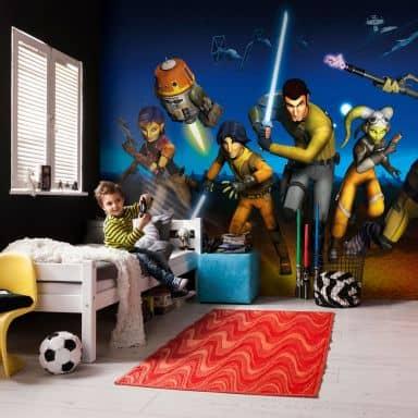 Fotobehang Papierbehang Star Wars Rebels Run
