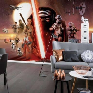 Papier peint photo - papier - Star Wars EP7 Collage