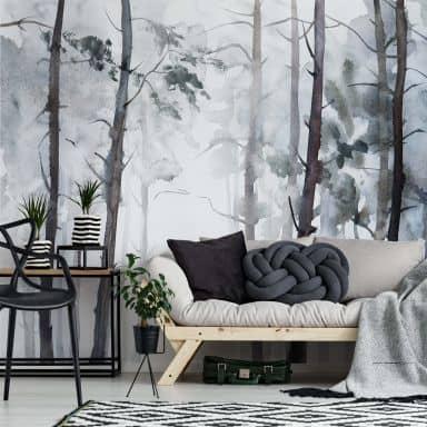 Fotomurale – Foresta in stile cquerello
