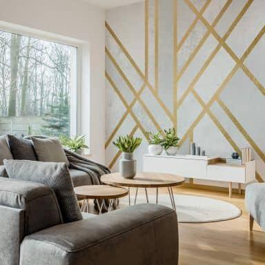 Fototapete Fredriksson - Art Deco: Goldene Geometrie - 240x260 cm