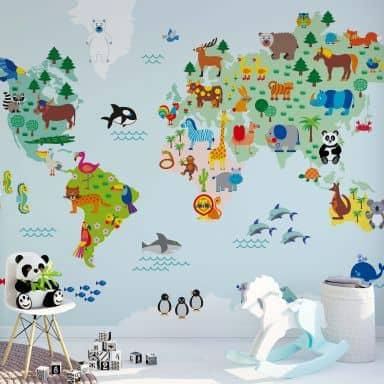 Fototapete byGraziela - Weltkarte