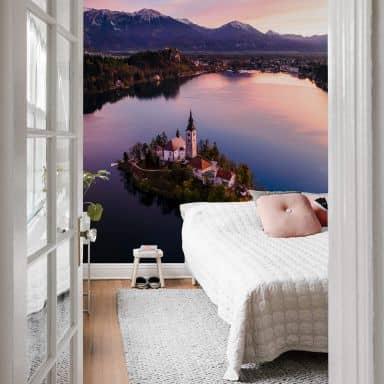 Fototapete Colombo - Bleder See in Slowenien - 192x260 cm