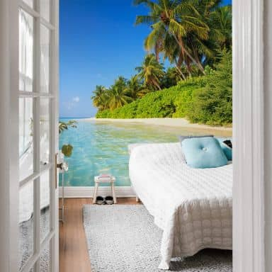 Fototapete Colombo - Die Malediven - 144x260 cm