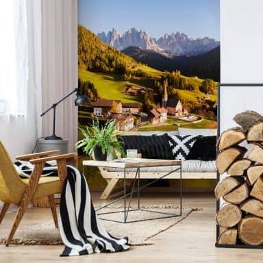 Fototapete Colombo - Kleines Dorf in den Dolomiten - 192x260 cm