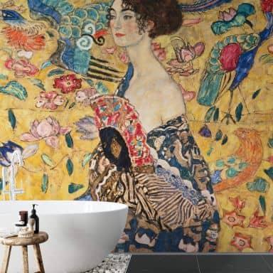 Fototapete Klimt - Dame mit Fächer - 288x260 cm