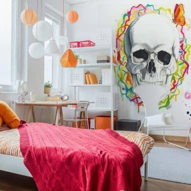 Fototapete Buttafly - Skull