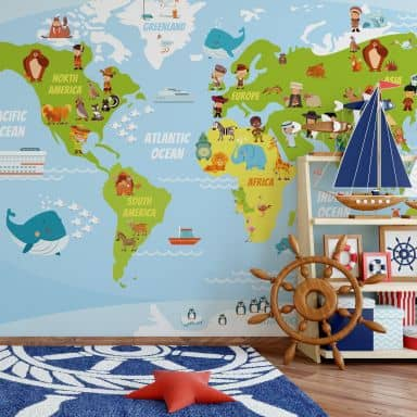 Photo wallpaper – Kids World Map
