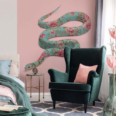 Fototapete Fuentes - Floral Snake - 192x260 cm