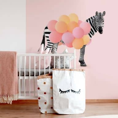 Photo Wallpaper Fuentes - Zebra Balloon
