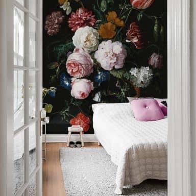 Fotobehang de Heem - Stilleven Bloemen in Vaas