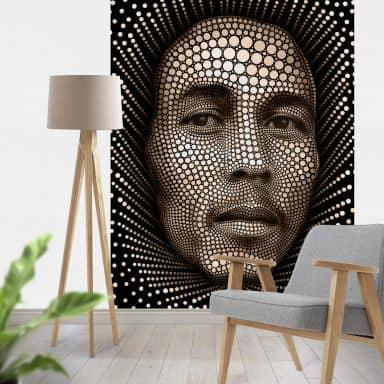 Fotobehang Ben Heine - Circlism - Bob Marley