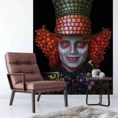 Fotobehang Ben Heine - Circlism - Johnny Depp