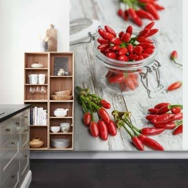 Fototapete Hot Chili - 192x260 cm