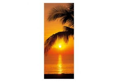 Türtapete Palmy Beach Sunrise