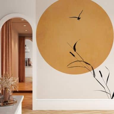 Fotobehang Kubistika - Sunrise Bird