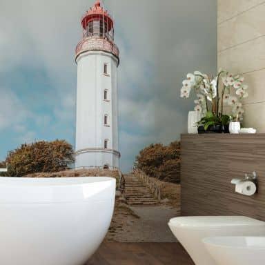 Fototapete Leuchtturm auf Hiddensee