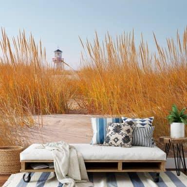 Fototapet - Fyrtårn på stranden