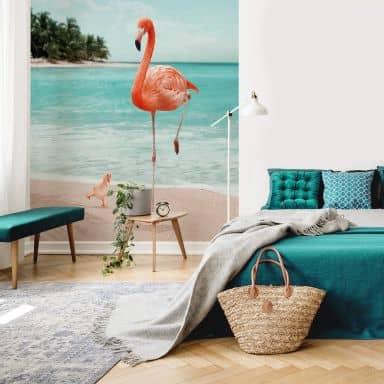 Fototapete Loose – Wannabe Flamingo