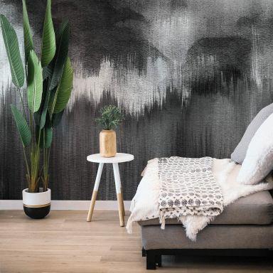 Fototapete Nouveauprints - Watercolour Brush Strokes (schwarz)