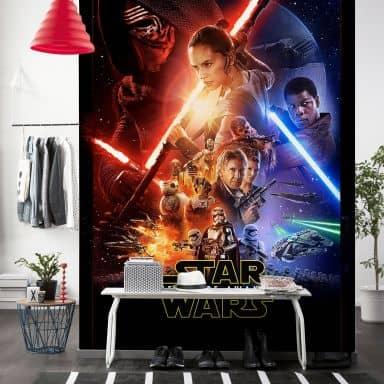 Fotobehang Star Wars E7 Official Movie Poster