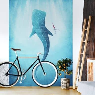 Papier peint photo Rivers - Le requin baleine