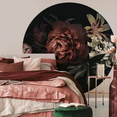 Papier peint photo Bouquet de fleurs - Rond