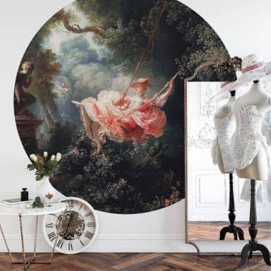 Fototapete Fragonard - Die Schaukel - Rund