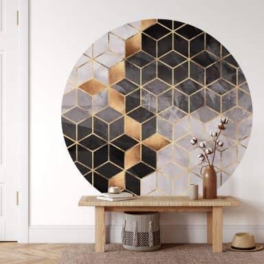 Behangcirkel Fredriksson - Smoky Cubes