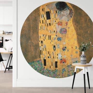 Fototapete Klimt - Der Kuss - Rund