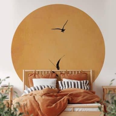 Behangcirkel Kubistika - Sunrise Bird