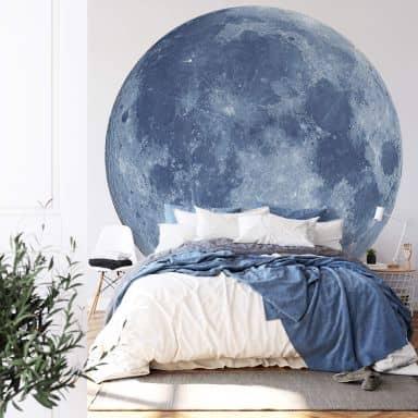 Fototapete Moon Complete - Rund