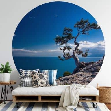 Behangcirkel Sea and Tree