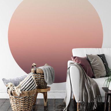 Behangcirkel Ombre Sunset