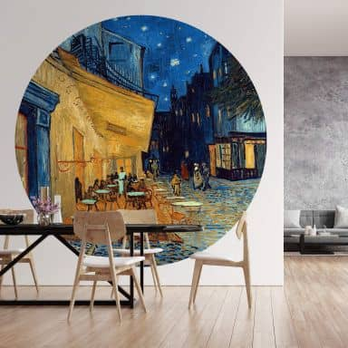 Behangcirkel van Gogh - Café Terras