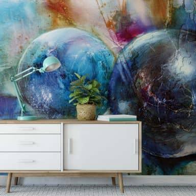 Photo wallpaper Schmucker – Blue Marbles