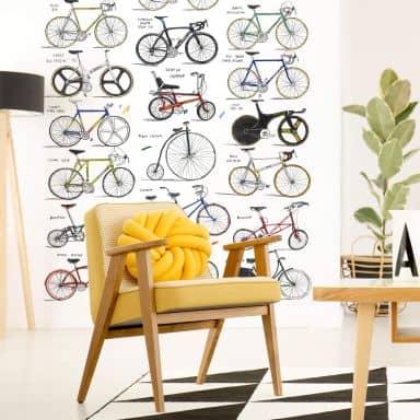 Fototapete Sparshott - Fahrräder - 192x260 cm