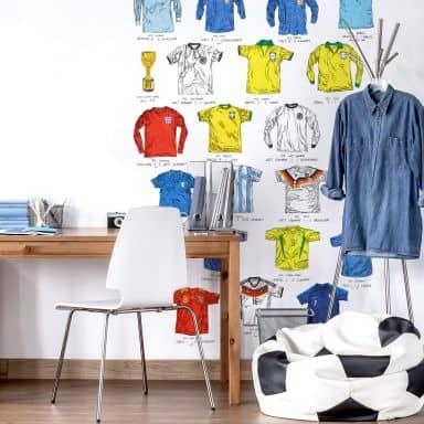 Fototapete Sparshott - Fußballtrikots Weltmeisterschaft - 192x260 cm