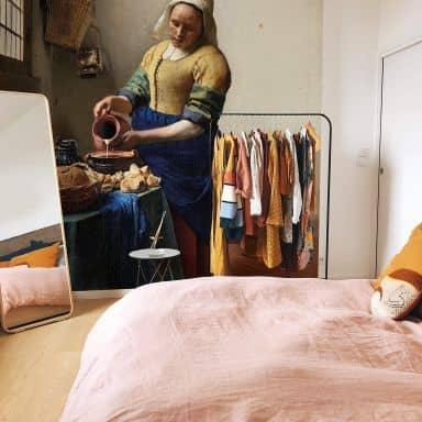 Fototapete Vermeer - Das Mädchen mit dem Milchkrug - 240x260 cm