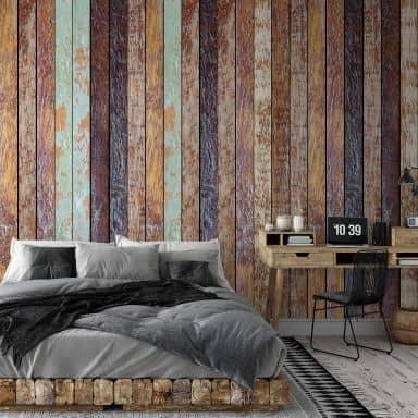 Fototapete - Vintage Holzwand