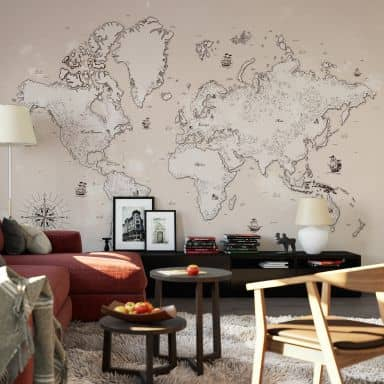 Fototapete Weltkarte - Aus vergangenen Zeiten