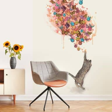Fototapete Graves - Catching Butterflies - 192x260cm