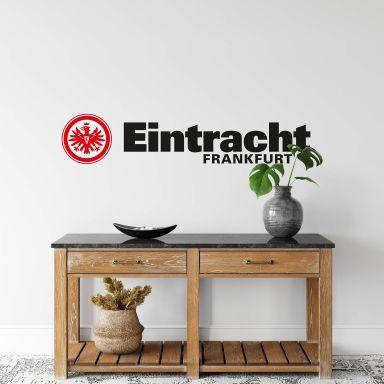 Wandtattoo Eintracht Frankfurt Logo mit Schriftzug