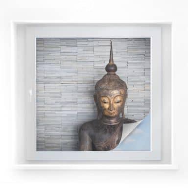 Pellicola adesiva per vetri - Buddha tailandese (quadrato)