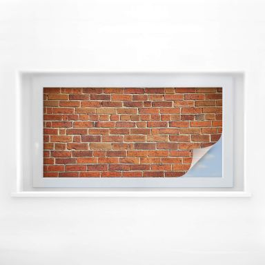 Window foil Brick wall – panorama